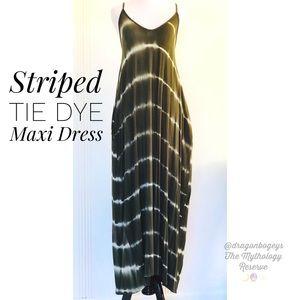 Striped Tie Dye Maxi Dress